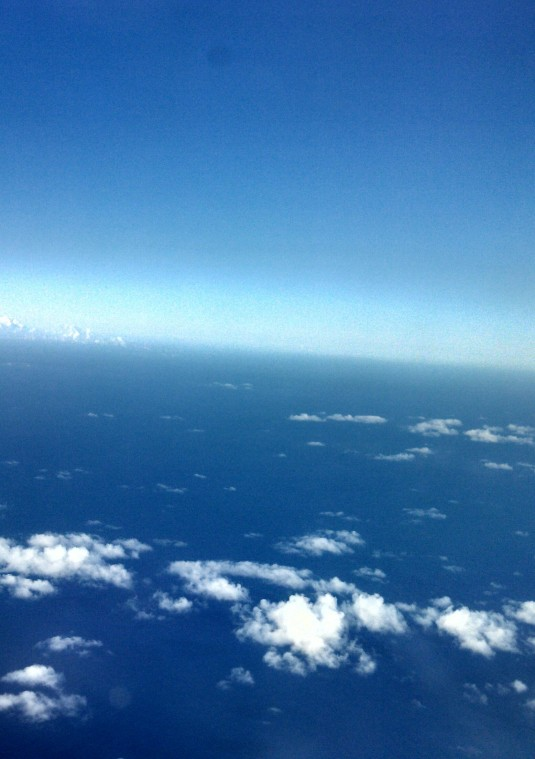 Above the world...between O`ahu and Molokai`i