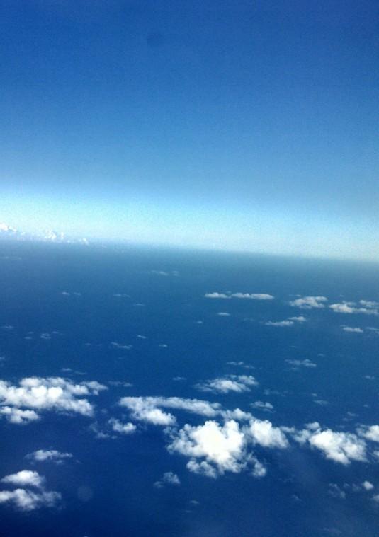Above the world...between O`ahu and Molokai`i